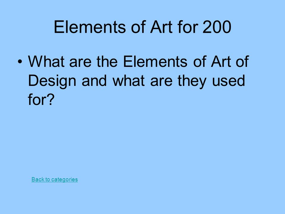 Principles of Art for 100 What is balance in art? Back to categories