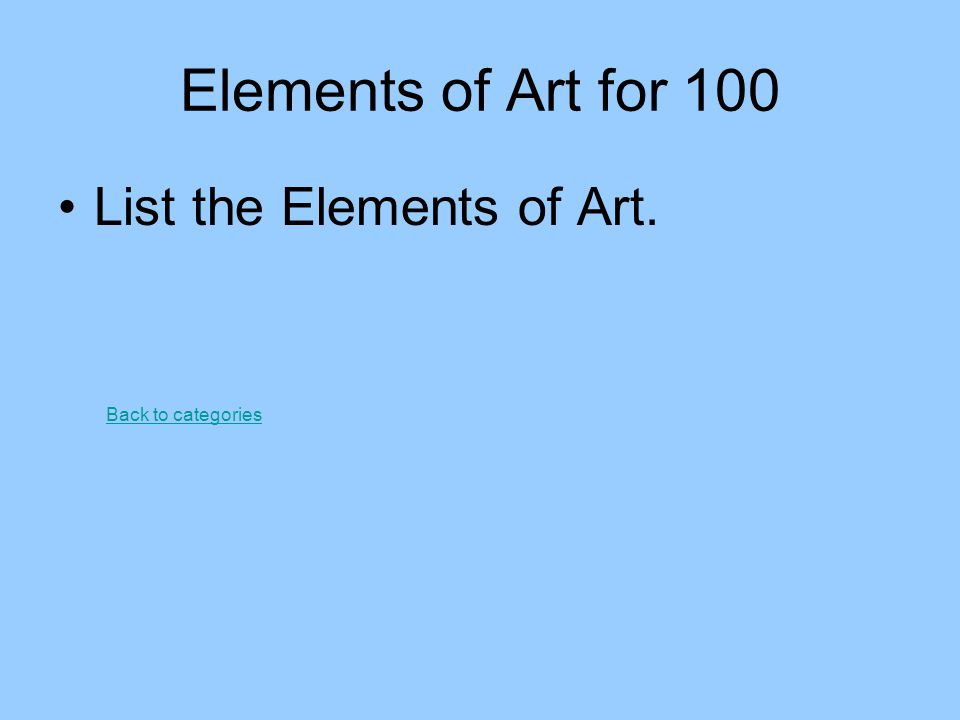 Principles of Art for 200 What are the three types of balance? Back to categories