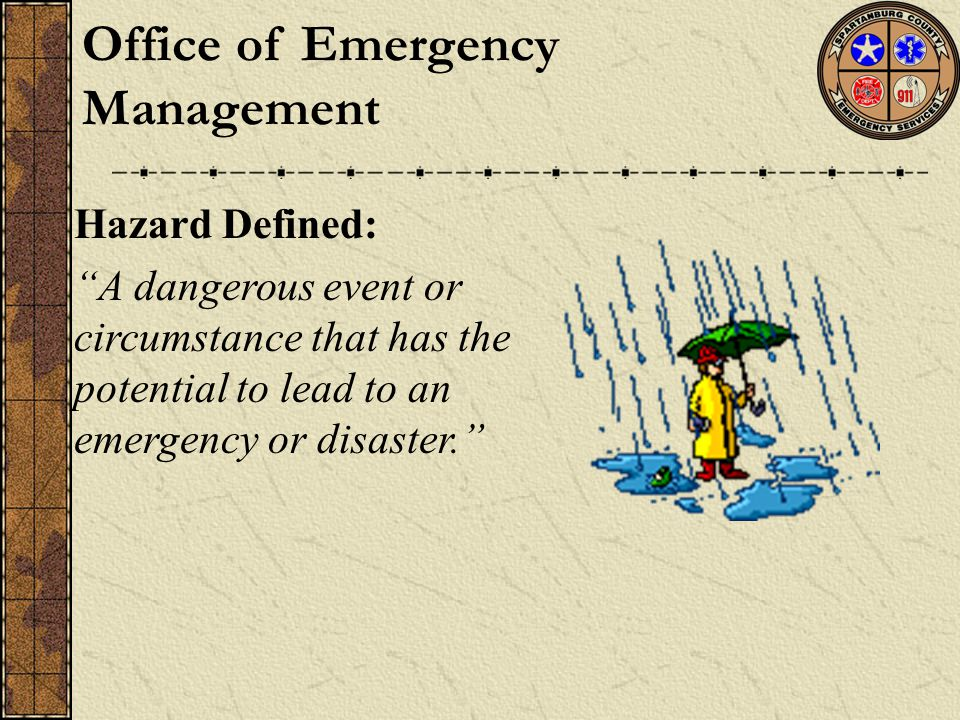 Emergency Operations Plan does the following: establishes the policies and procedures by which the County will coordinate response to disasters impacting Spartanburg County and its citizens.