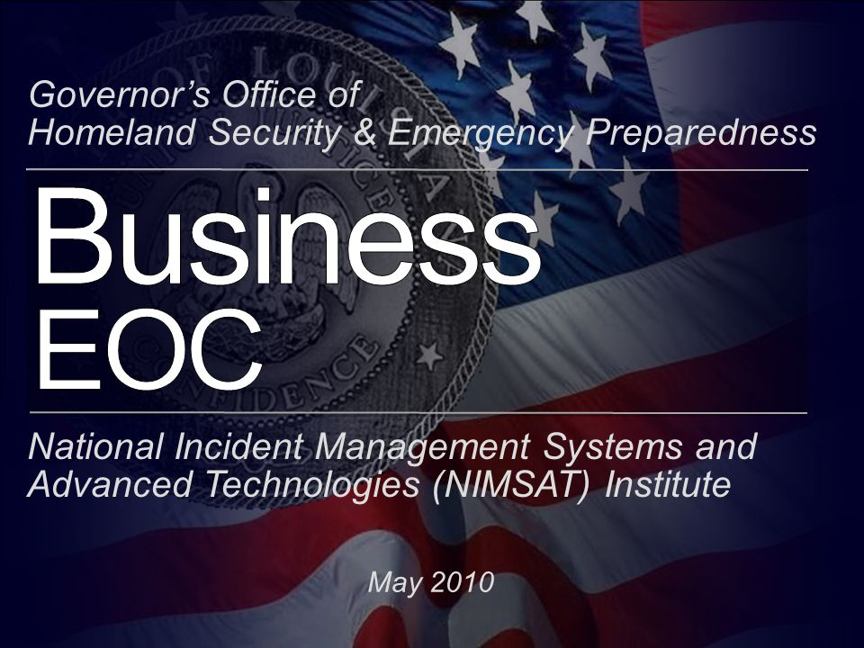 Business EOC LA BEOC Designed for Collaboration Flexible(EOC, Classroom and Collaboratorium ) Secure (Physical, Access and Encryption) Easy to use(Customized to task and Supported) Robust(Layers of Redundancy) Effective(Functionality and Cost) Physical and virtual(Interface and OS independent) Platform Agnostic(Any device and any standard)