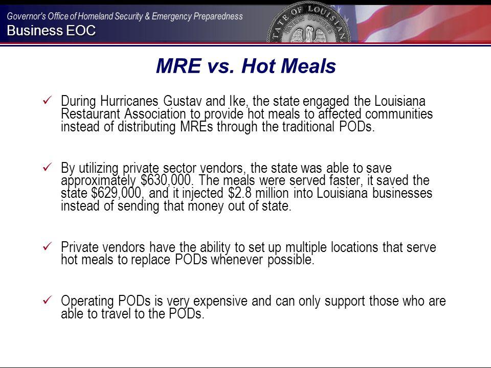 Business EOC MRE vs.