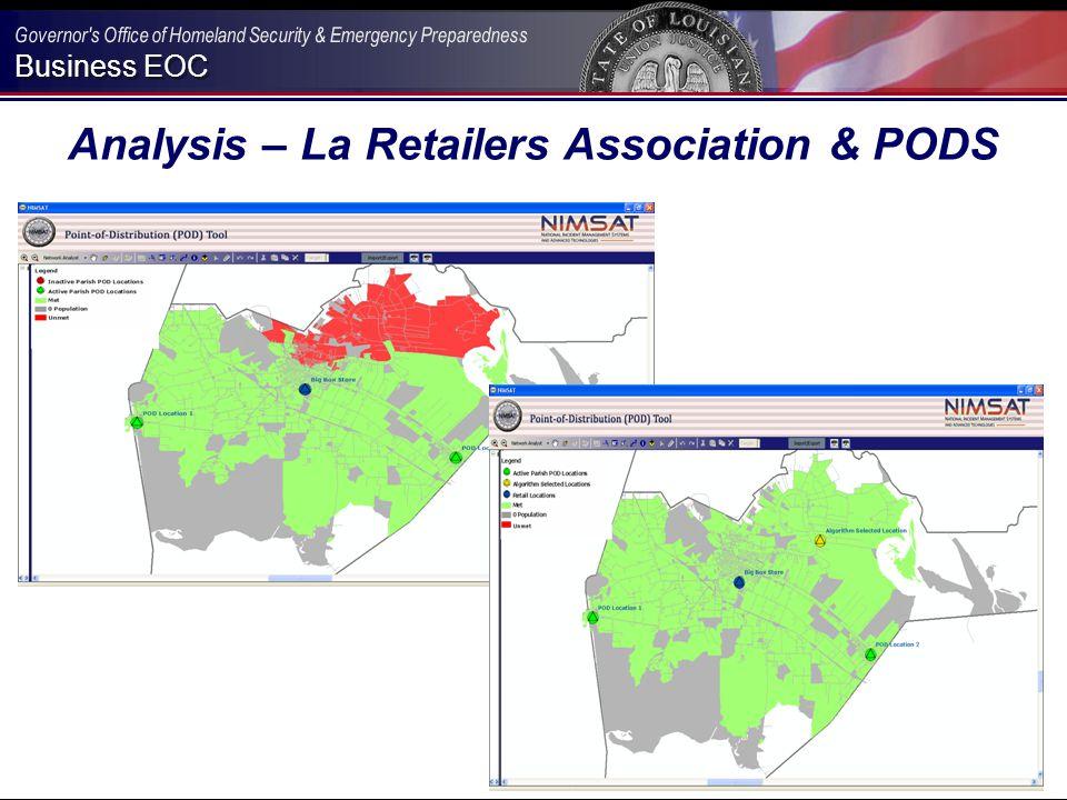 Business EOC Analysis – La Retailers Association & PODS