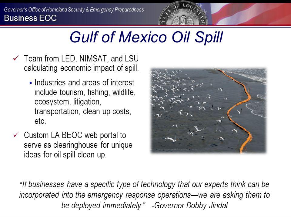 Business EOC LA BEOC Technologies Development of technologies that enhance emergency management professionals to manage emergencies.
