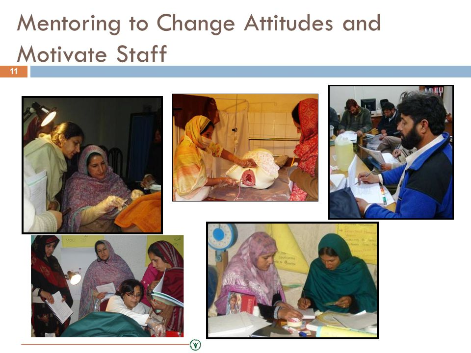 Mentoring to Change Attitudes and Motivate Staff 11