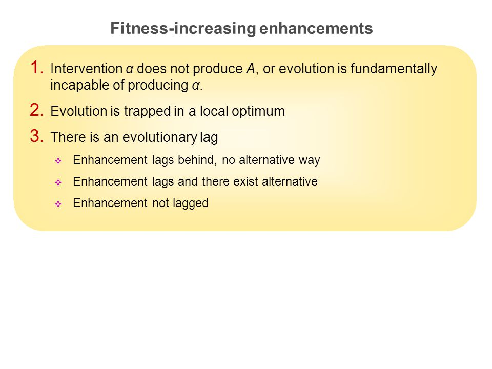 18 Fitness-increasing enhancements 1.