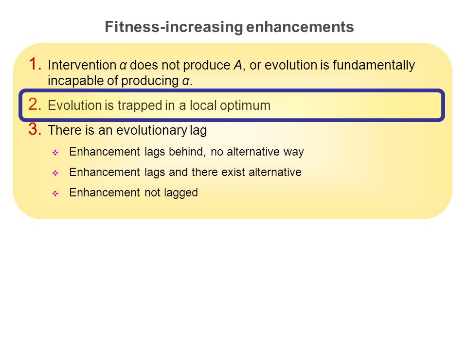 24 Fitness-increasing enhancements 1.