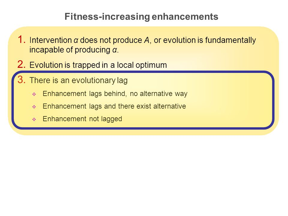 25 Fitness-increasing enhancements 1.