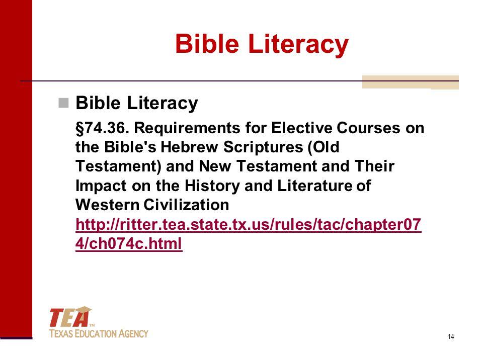 Bible Literacy §74.36.