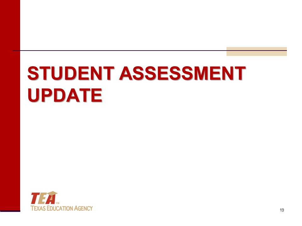 STUDENT ASSESSMENT UPDATE 19