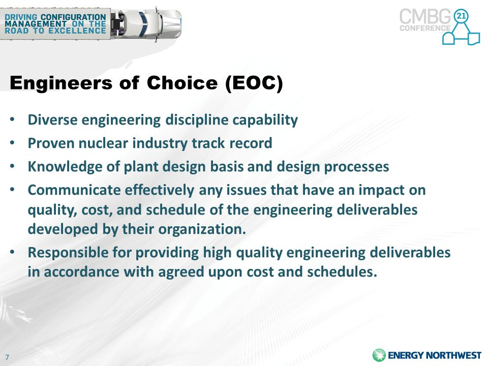 8 Specialty Engineering (SE) Has broad skills and special expertise to identify proposed solutions for complex problems, prepare conceptual designs, address emergent issues, and perform independent third party reviews.