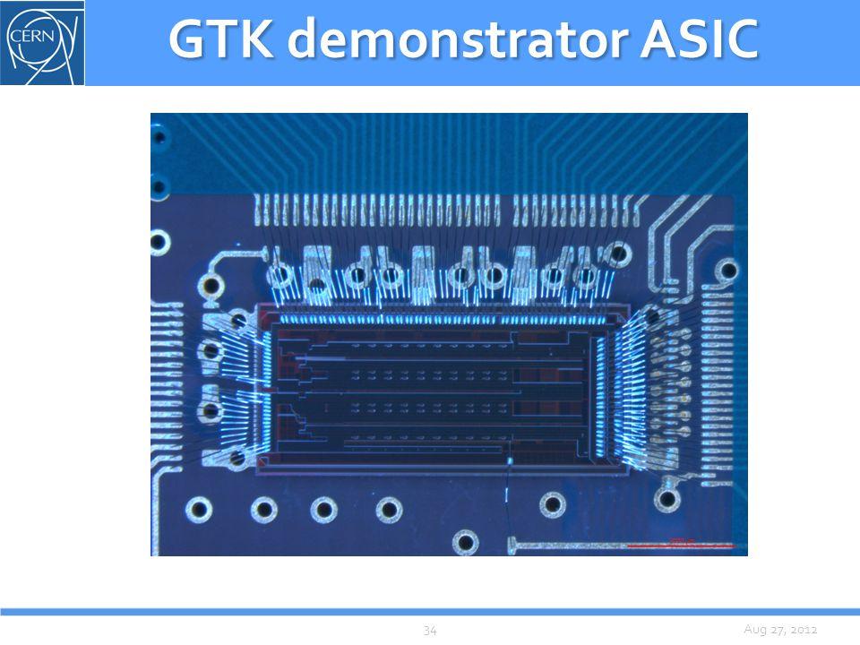 Aug 27, 2012 GTK demonstrator ASIC 34