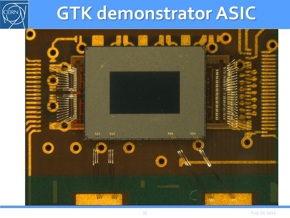 Aug 27, 2012 GTK demonstrator ASIC 35