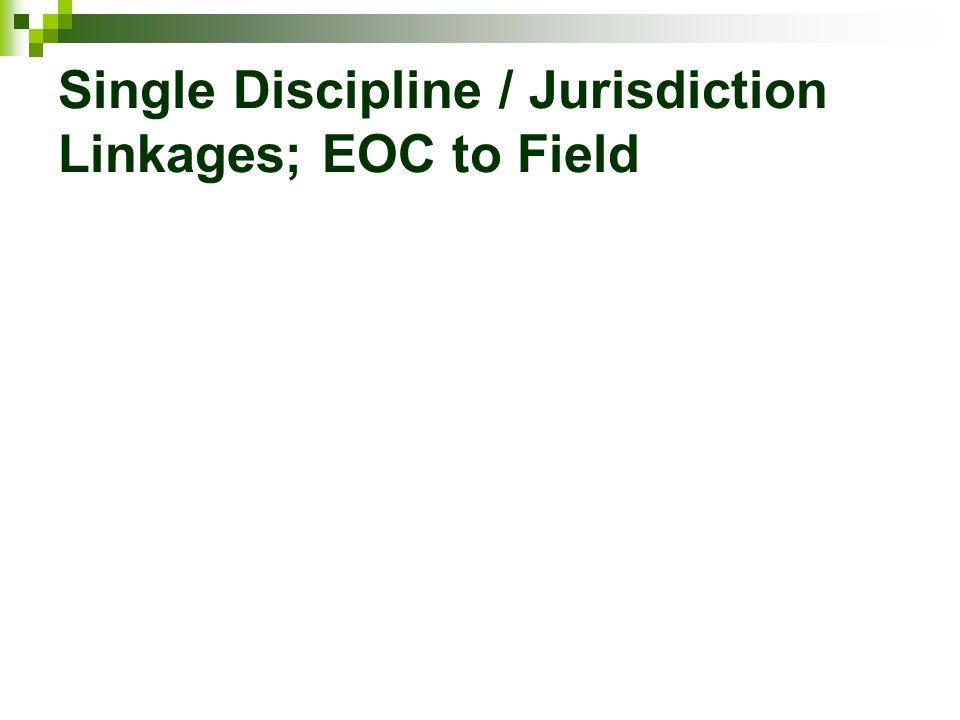 Single Discipline / Jurisdiction Linkages; EOC to Field