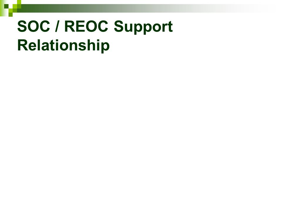 SOC / REOC Support Relationship