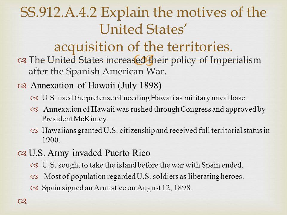   Treaty of Paris, 1898  Cuba freed from Spain  U.S.