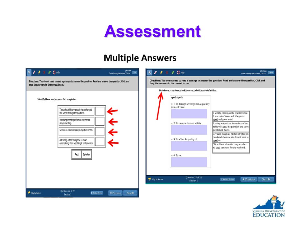 Assessment Multiple Answers