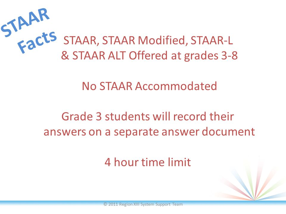 Modified assessments will be developed for 9 of the 12 STAAR EOCs.