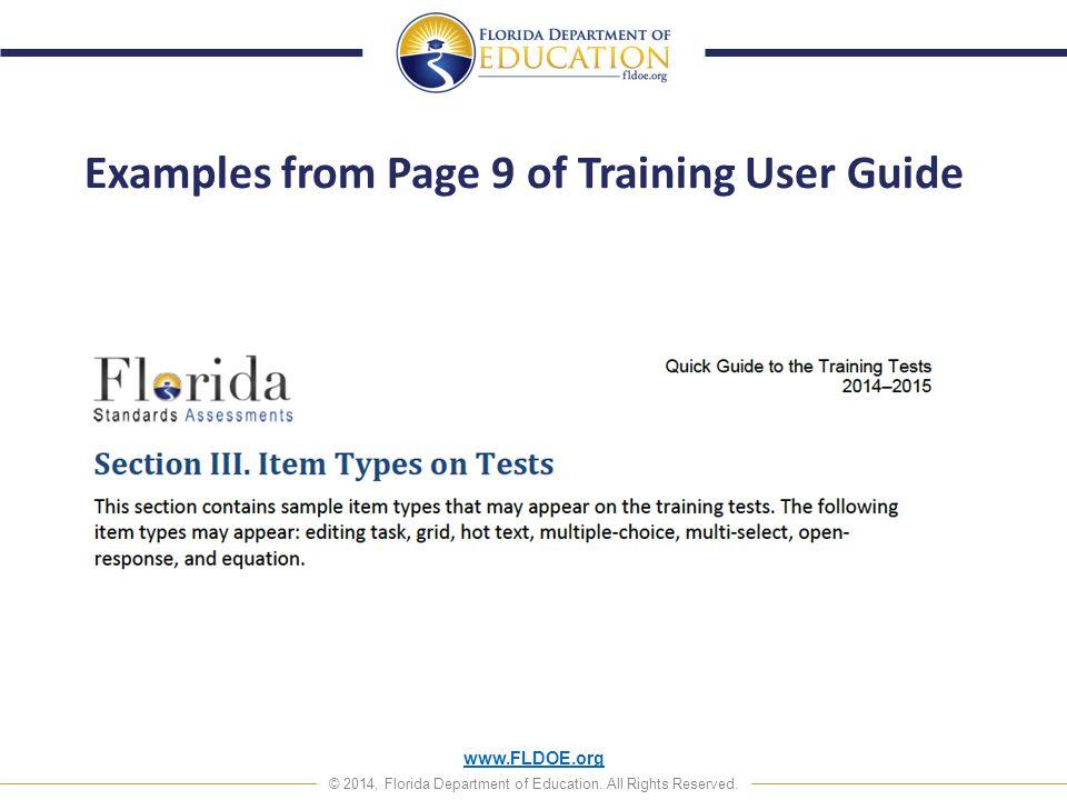 www.FLDOE.org © 2014, Florida Department of Education.