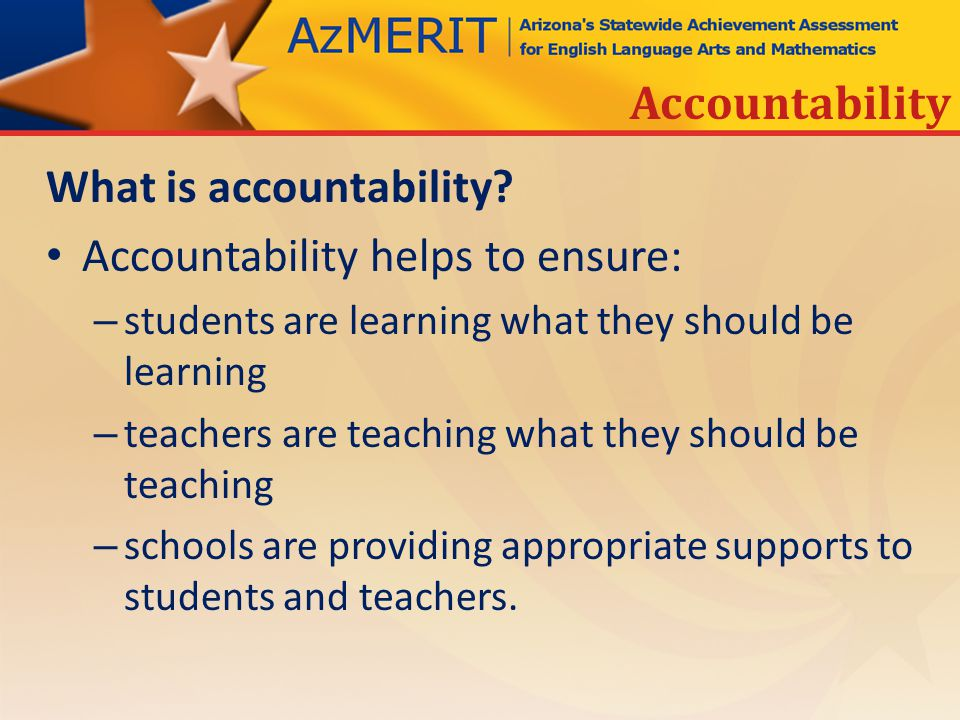 What is accountability.