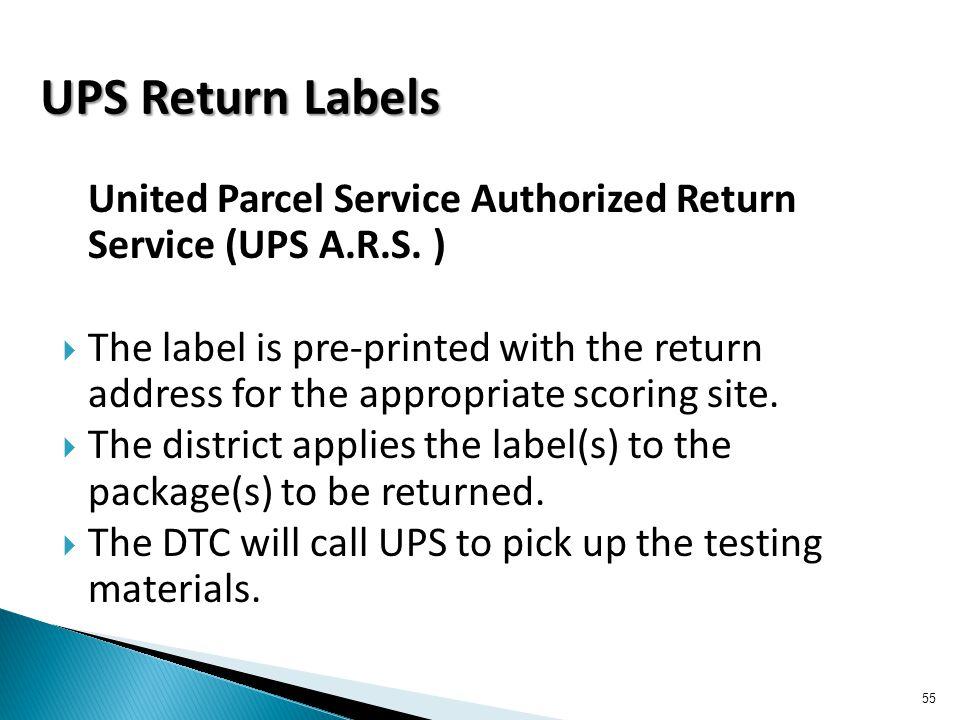 United Parcel Service Authorized Return Service (UPS A.R.S.