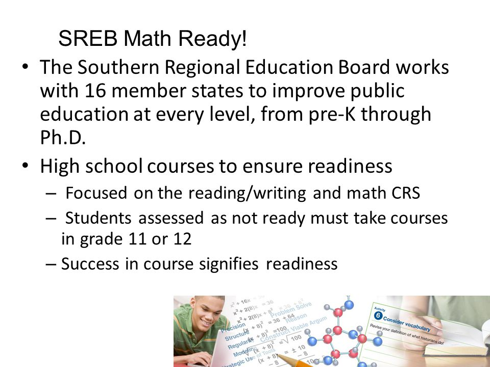 SREB Math Ready.