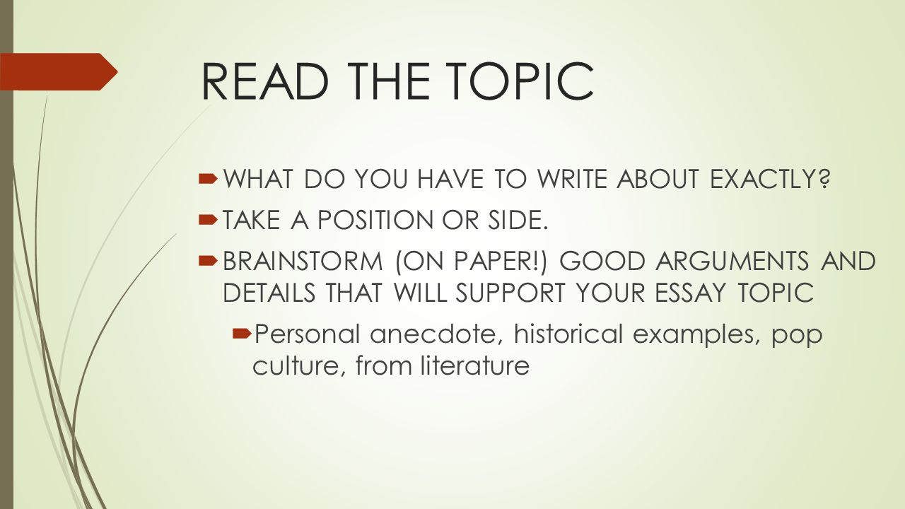 what are the steps to writing a persuasive essay