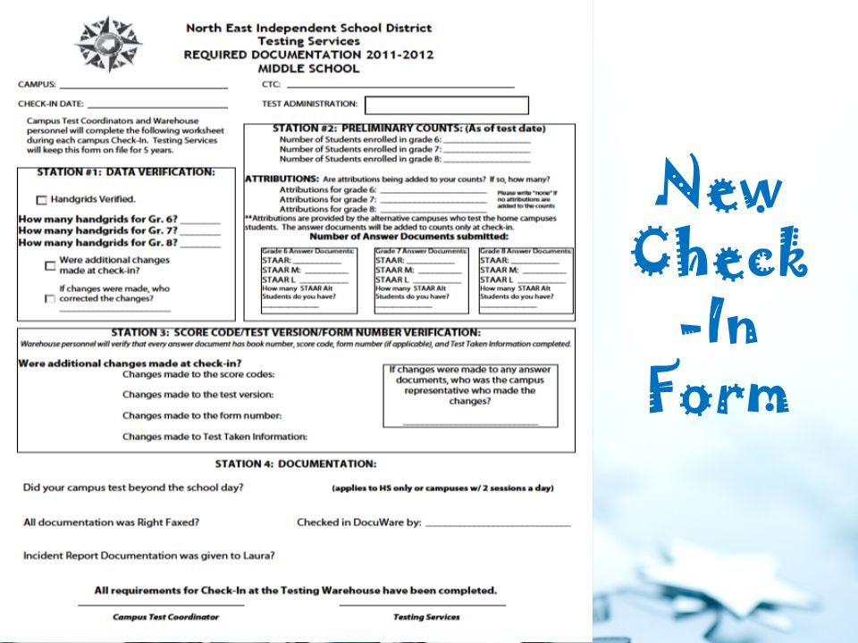 New Check -In Form