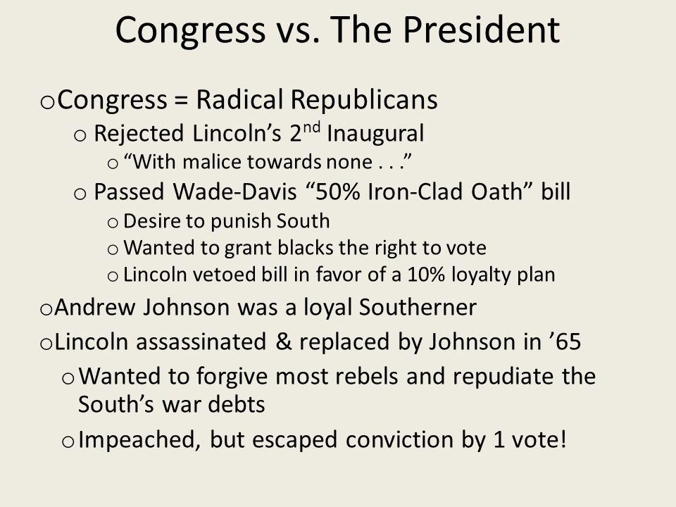 Congress vs.