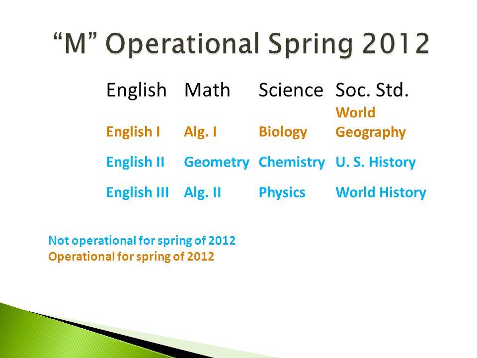 M Operational Spring 2012 EnglishMathScienceSoc.