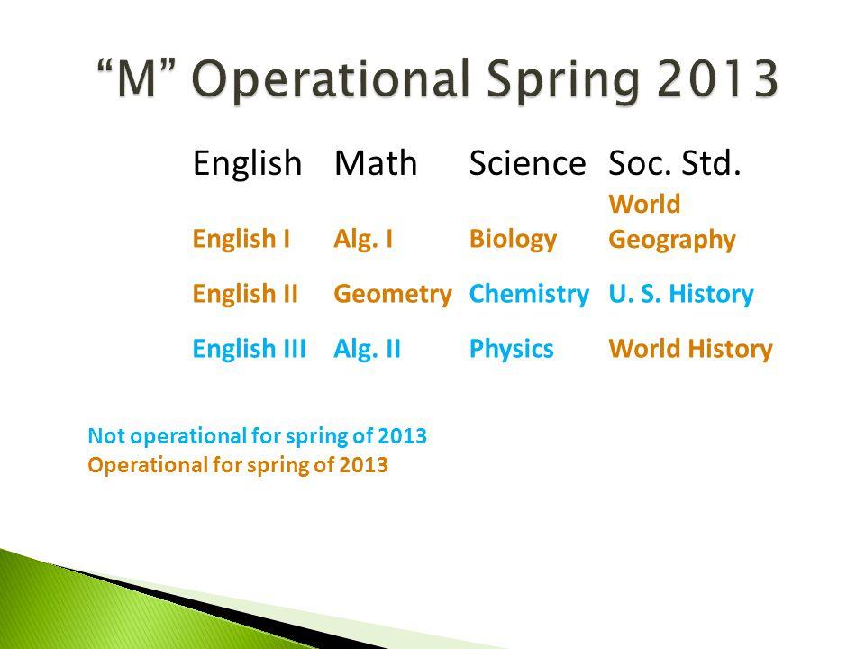 M Operational Spring 2013 EnglishMathScienceSoc.