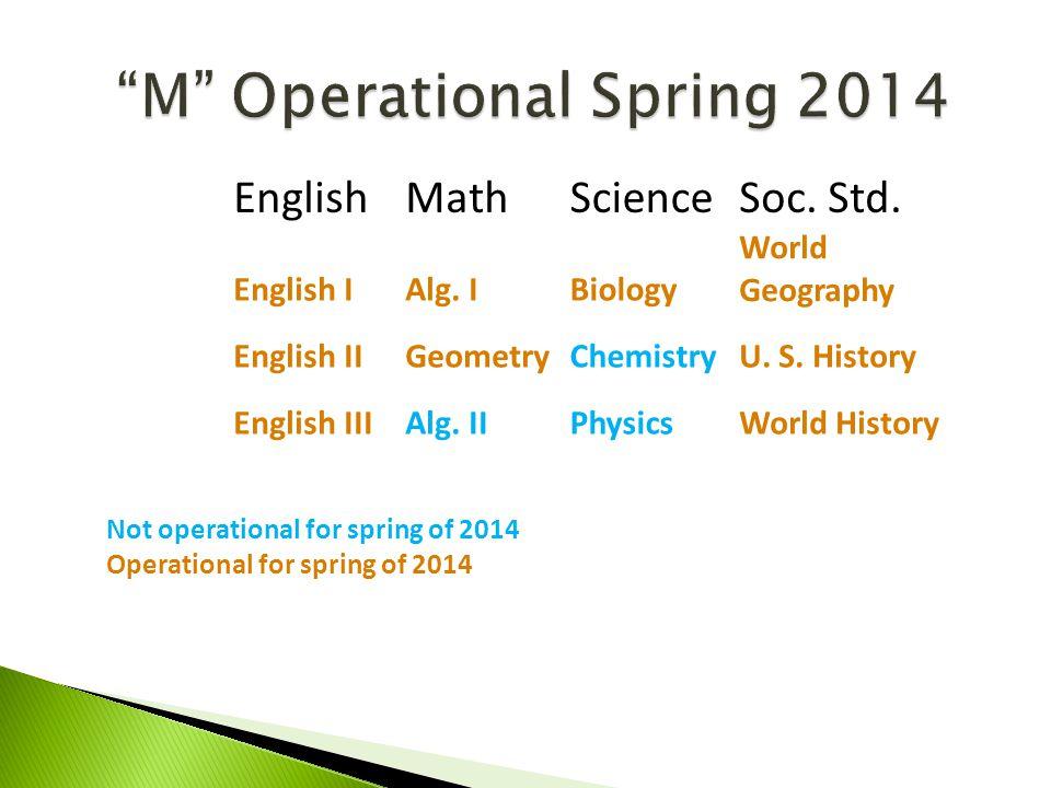 M Operational Spring 2014 EnglishMathScienceSoc.