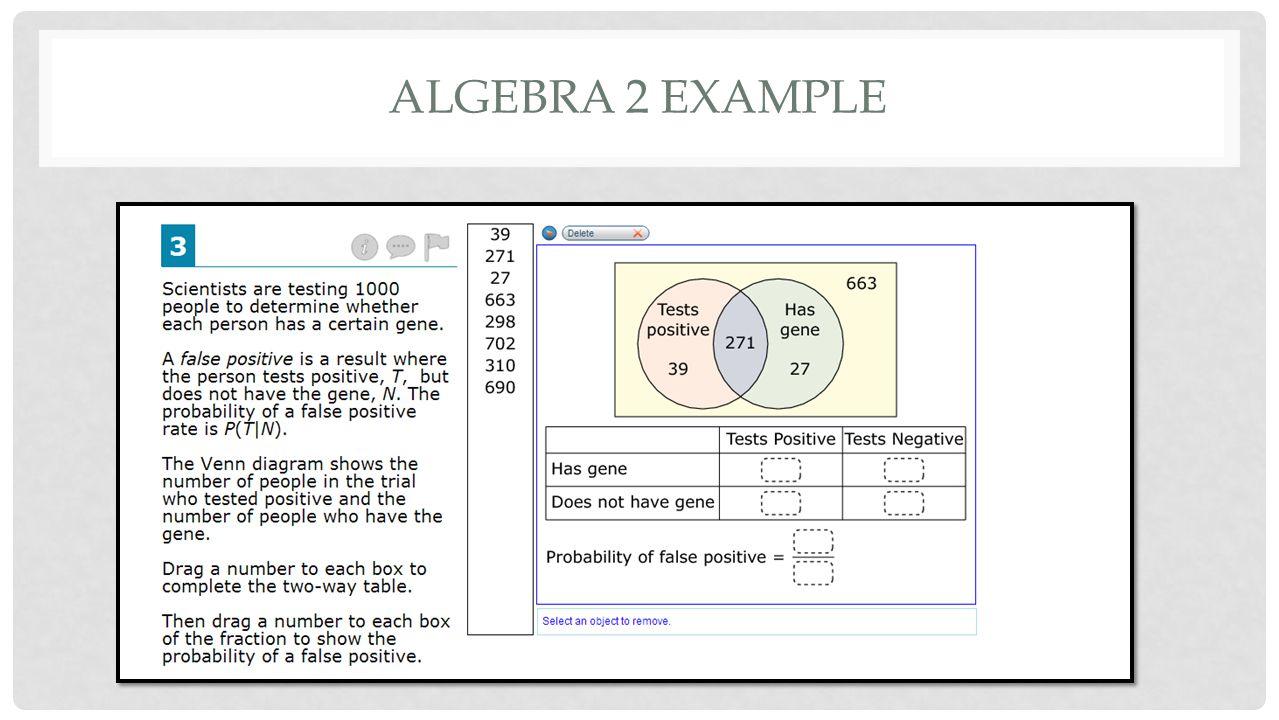 ALGEBRA 2 EXAMPLE