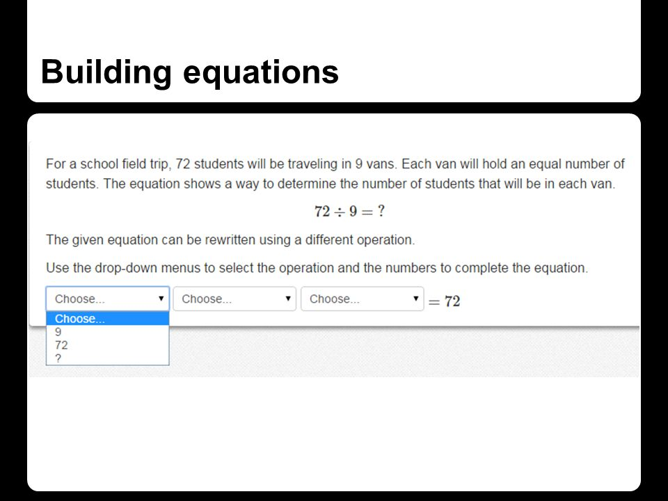 Building equations