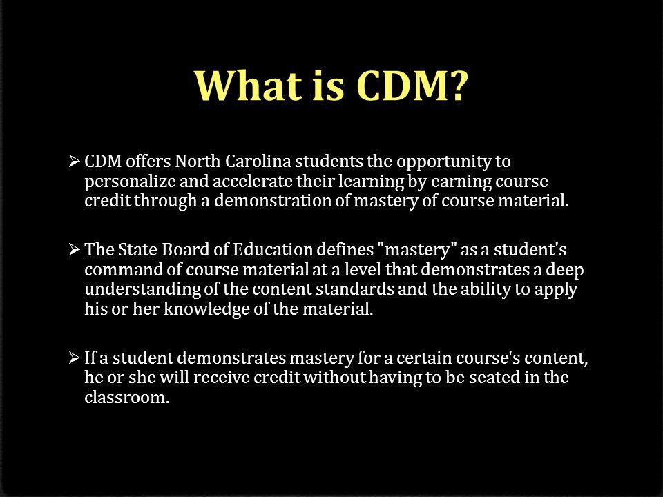 How does CDM work.