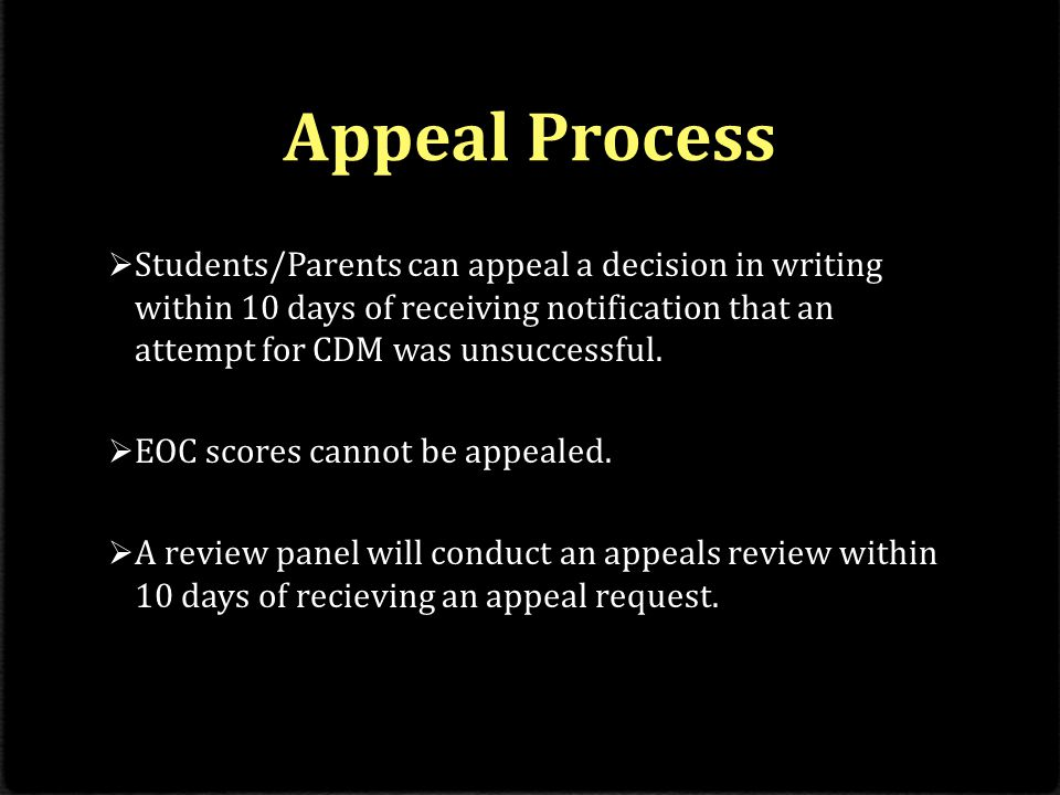 Implications for CDM  Students who successfully demonstrate mastery for a course will receive credit, which will count toward graduation requirements.
