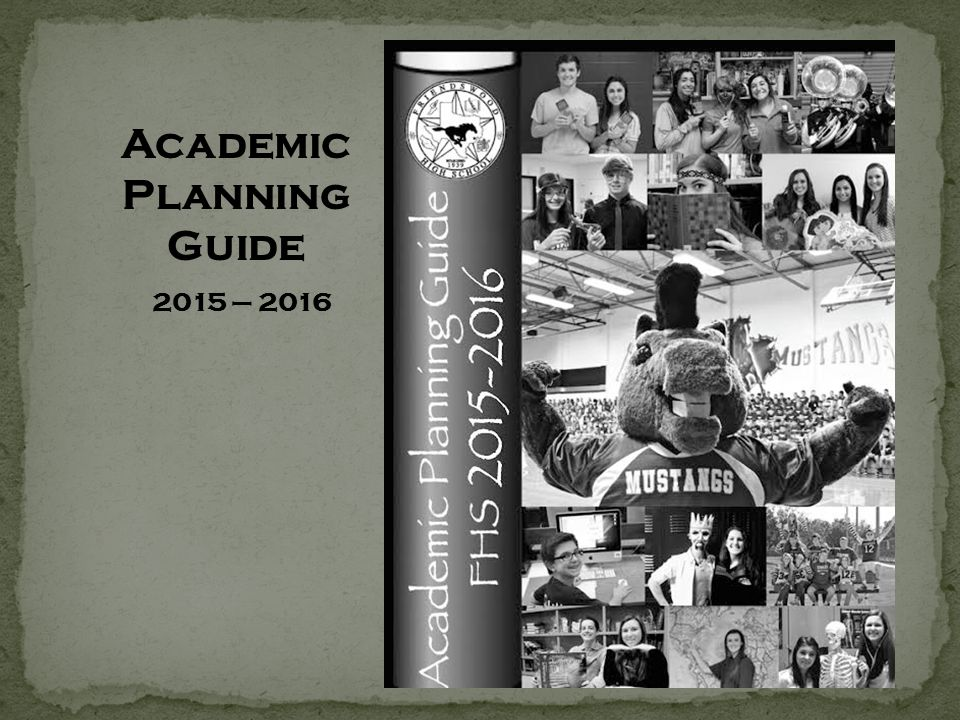 Academic Planning Guide 2015 – 2016