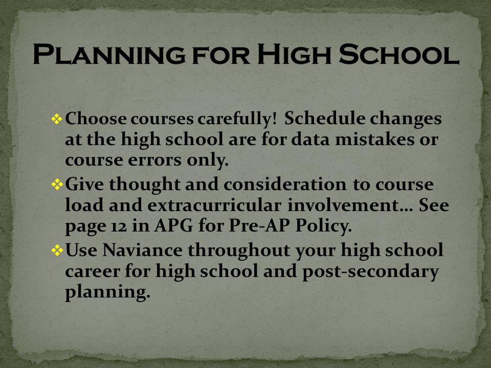  Choose courses carefully.