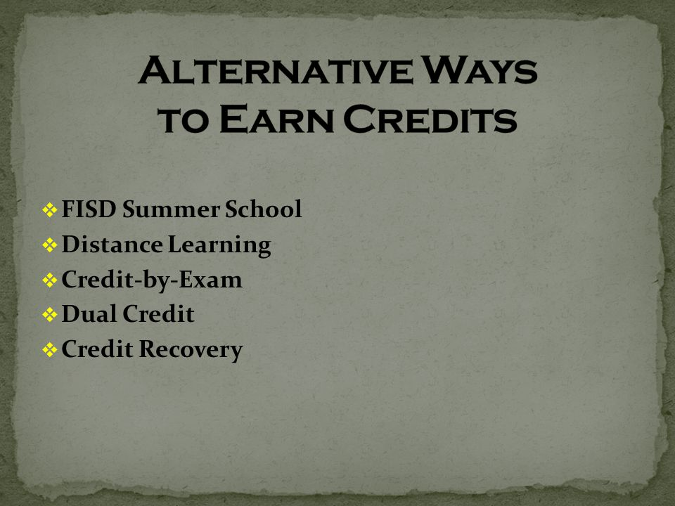  FISD Summer School  Distance Learning  Credit-by-Exam  Dual Credit  Credit Recovery