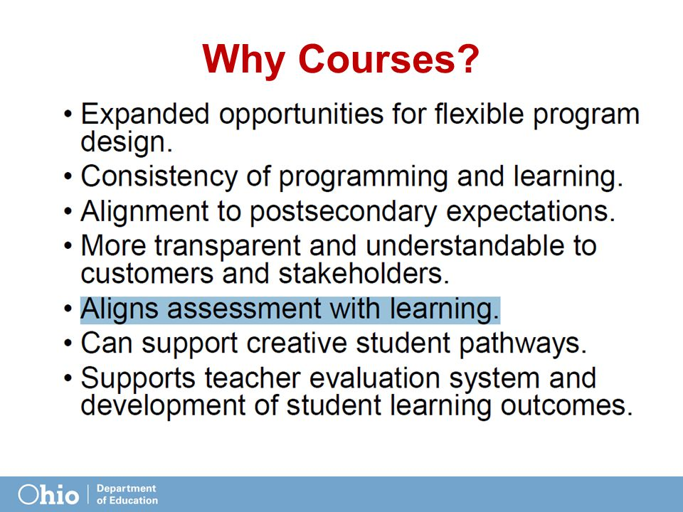 Why Courses?