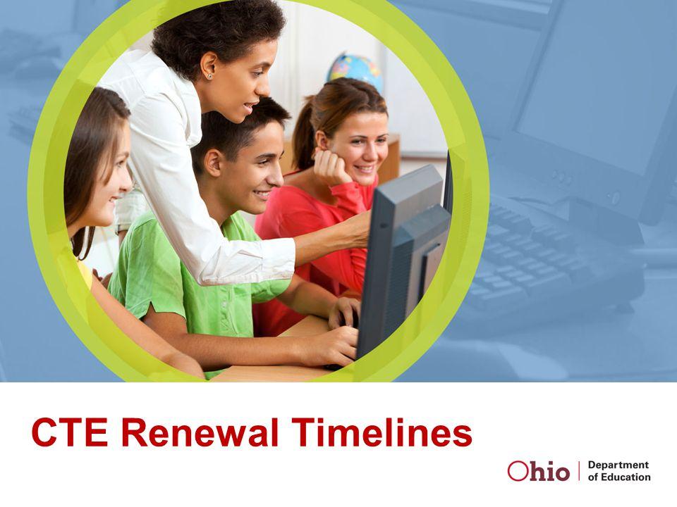 CTE Renewal Timelines