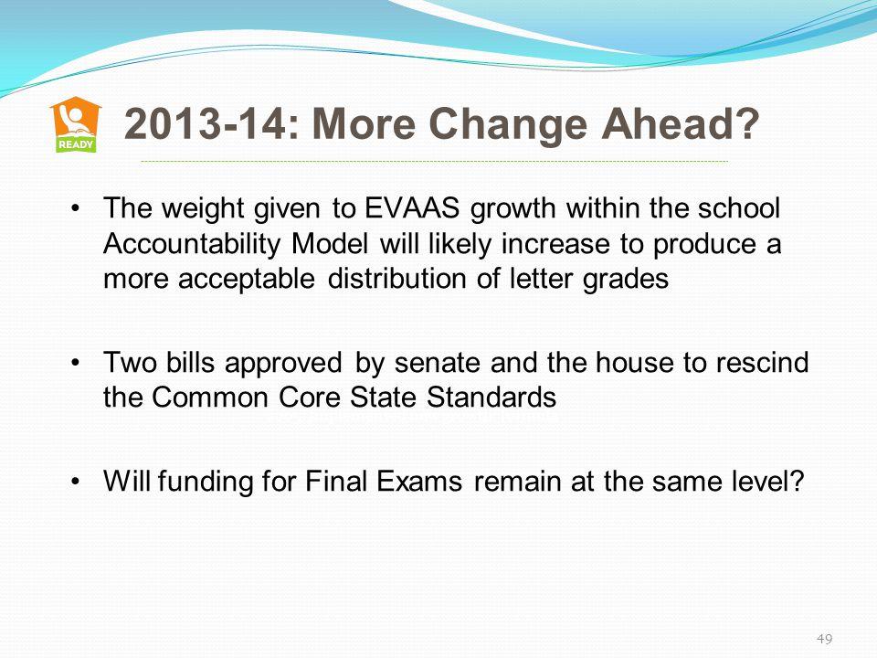 2013-14: More Change Ahead.