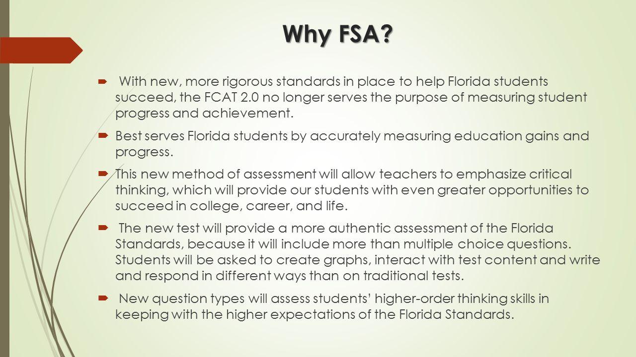 Why FSA.