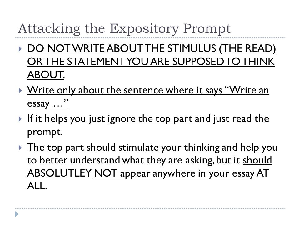 write an expository essay prompts This is a set of 10 expository writing prompts they are ideal for use in 3rd – 5th grades each prompt includes a text stimulus, think, write, and be sure to statement.