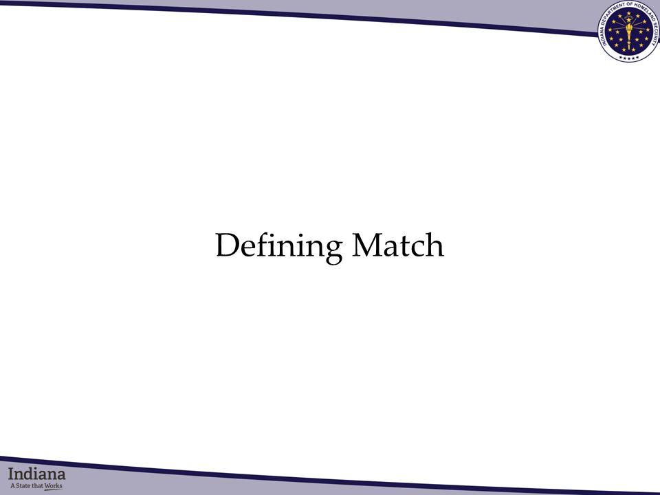 Defining Match