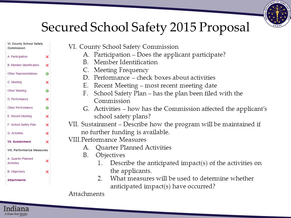 Secured School Safety 2015 Proposal VI.County School Safety Commission A.Participation – Does the applicant participate.