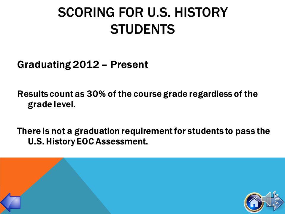 SCORING FOR ALGEBRA, BIOLOGY & GEOMETRY STUDENTS Graduating 2012 – Present Students will receive a Pass/Fail EOC score.