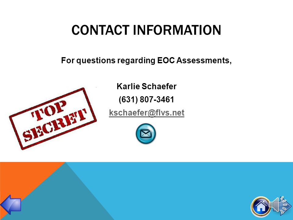 RESOURCES EOC WebsiteEOC Website: Review Sessions (live and recorded) Practice Tests Extra Study Guides Mobile Apps $4.99 Algebra 1 Fact Sheet Biology 1 Fact Sheet Geometry Fact Sheet U.S.