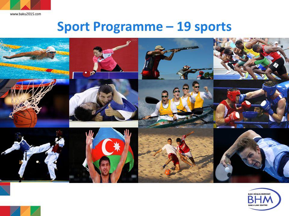 Sport Programme – 19 sports 5
