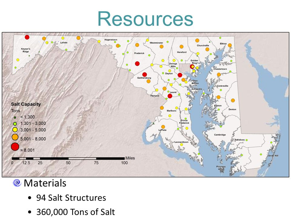 Resources Materials 94 Salt Structures 360,000 Tons of Salt
