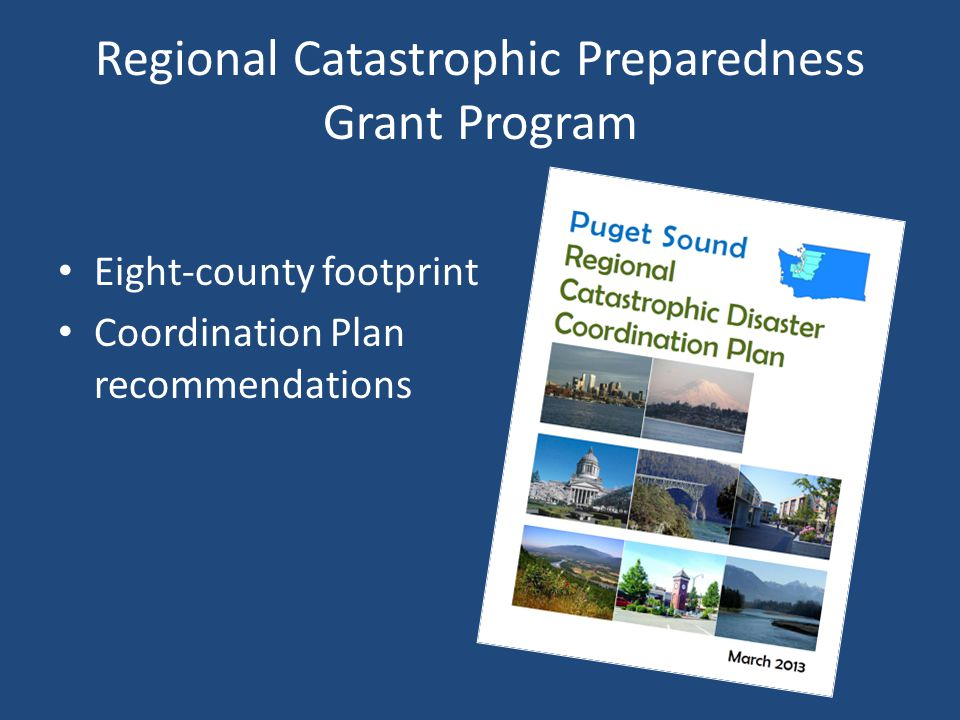 Regional Catastrophic Preparedness Grant Program Eight-county footprint Coordination Plan recommendations